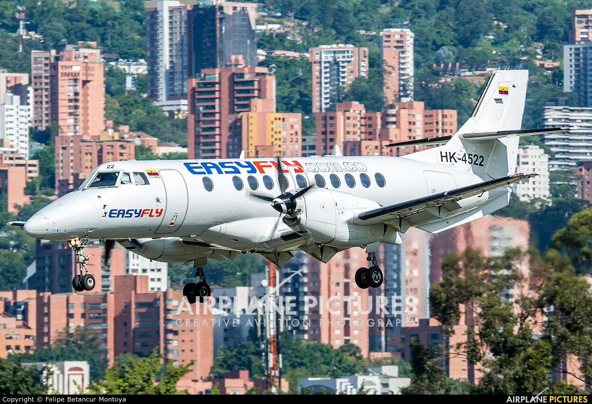 EasyFly HK-4522 aircraft at Medellin - Olaya Herrera