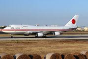 JASDF B747 visits Malta title=