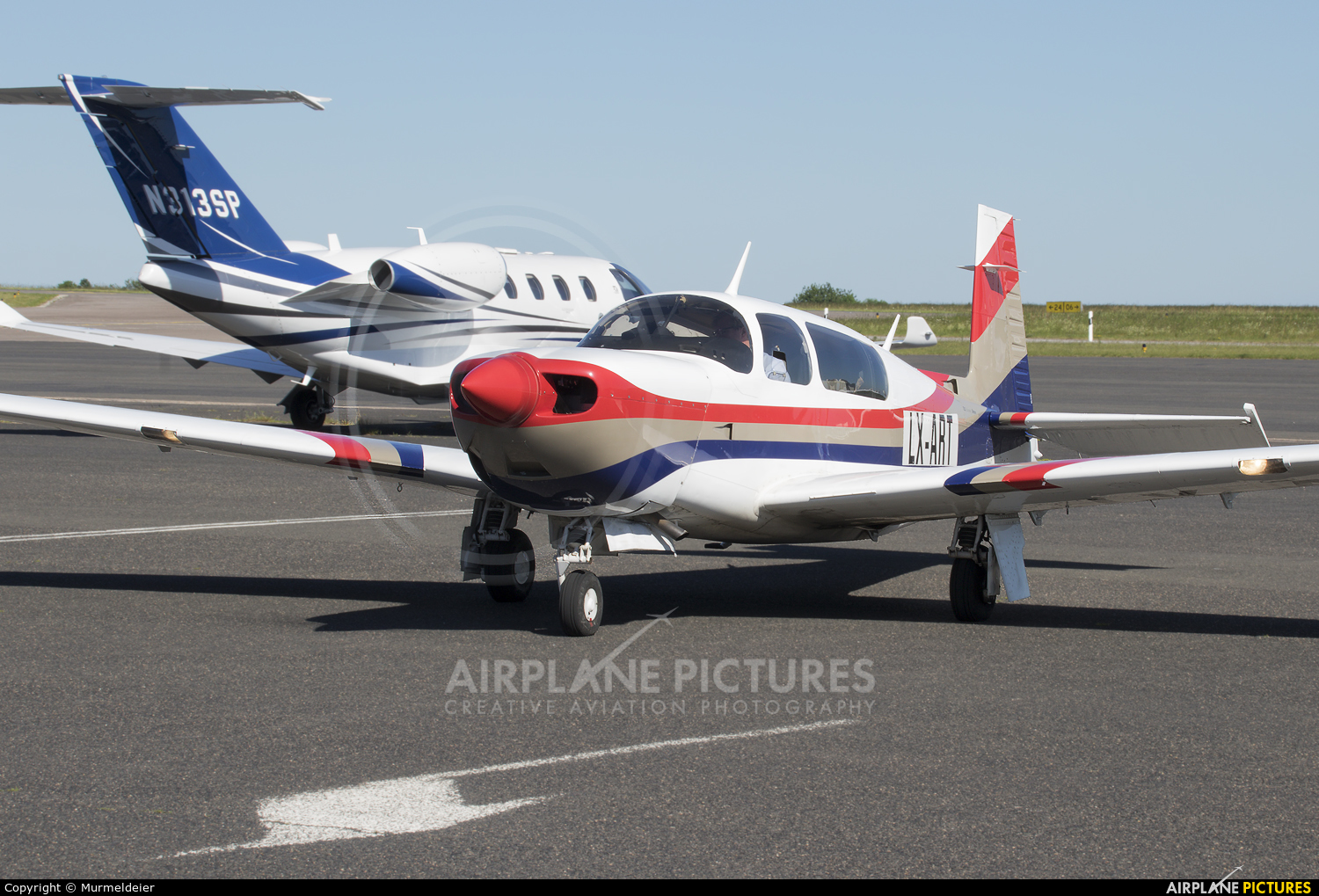 Private LX-ART aircraft at Luxembourg - Findel