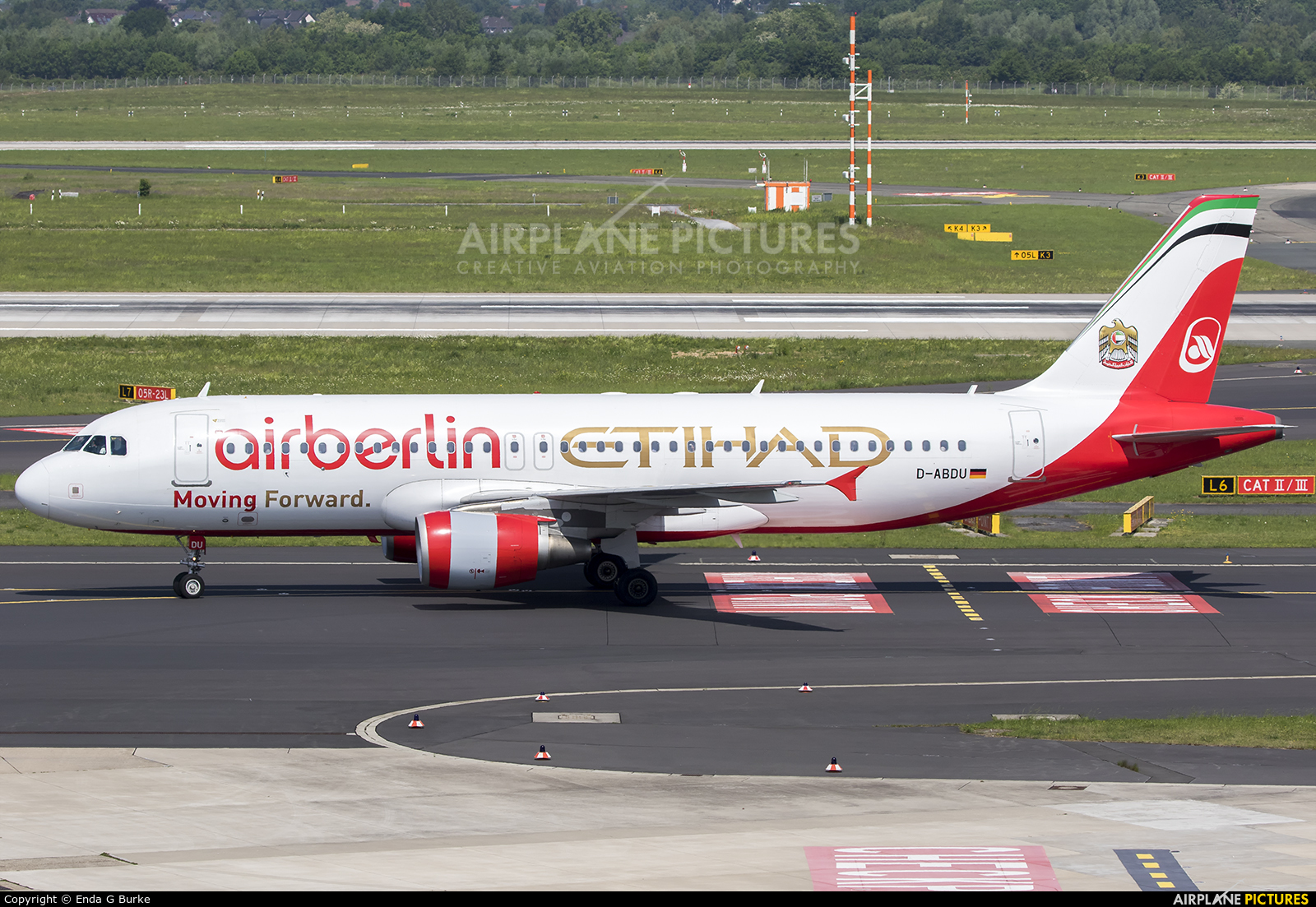 Air Berlin D-ABDU aircraft at Düsseldorf