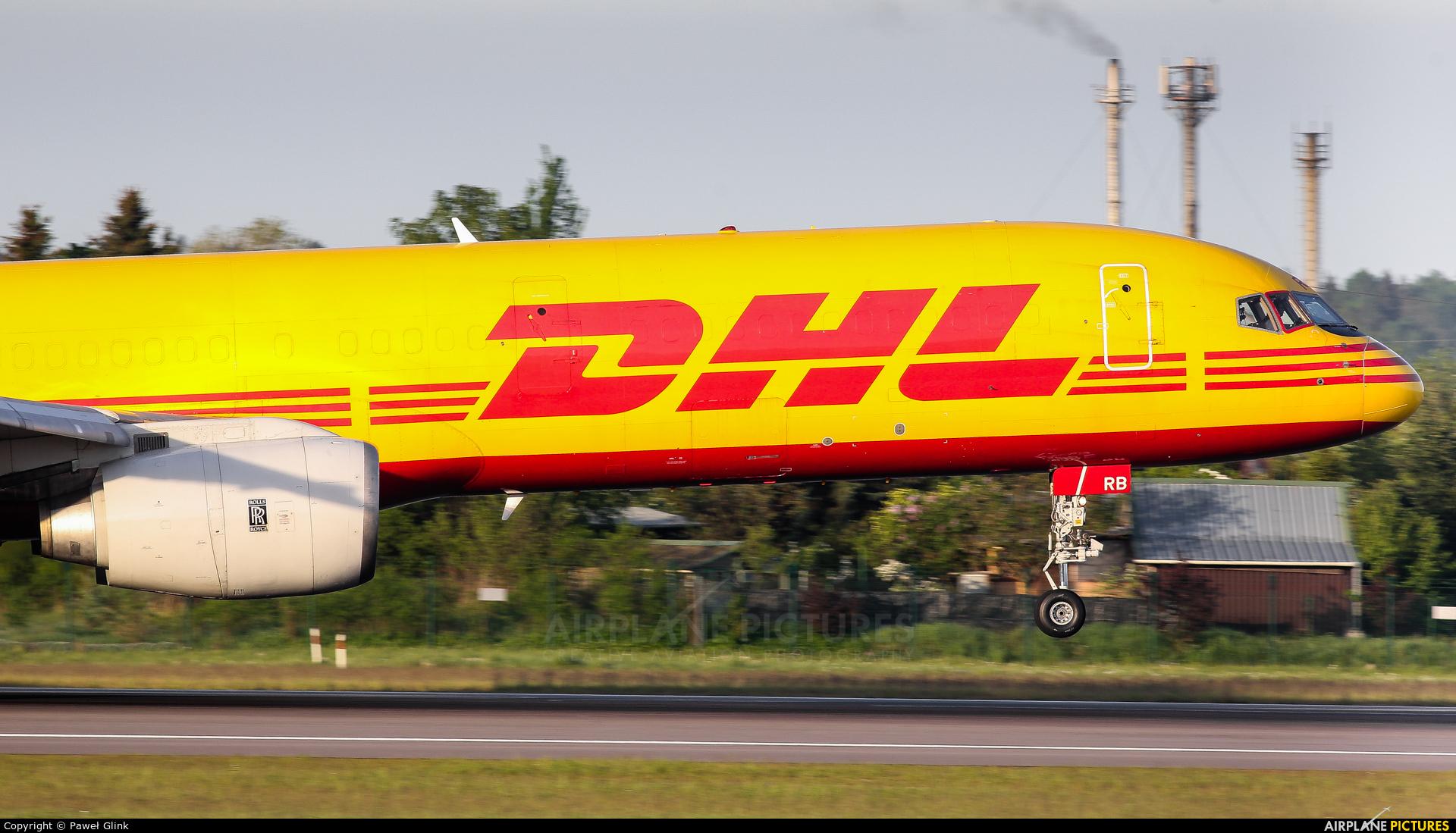 DHL Cargo G-BMRB aircraft at Gdańsk - Lech Wałęsa
