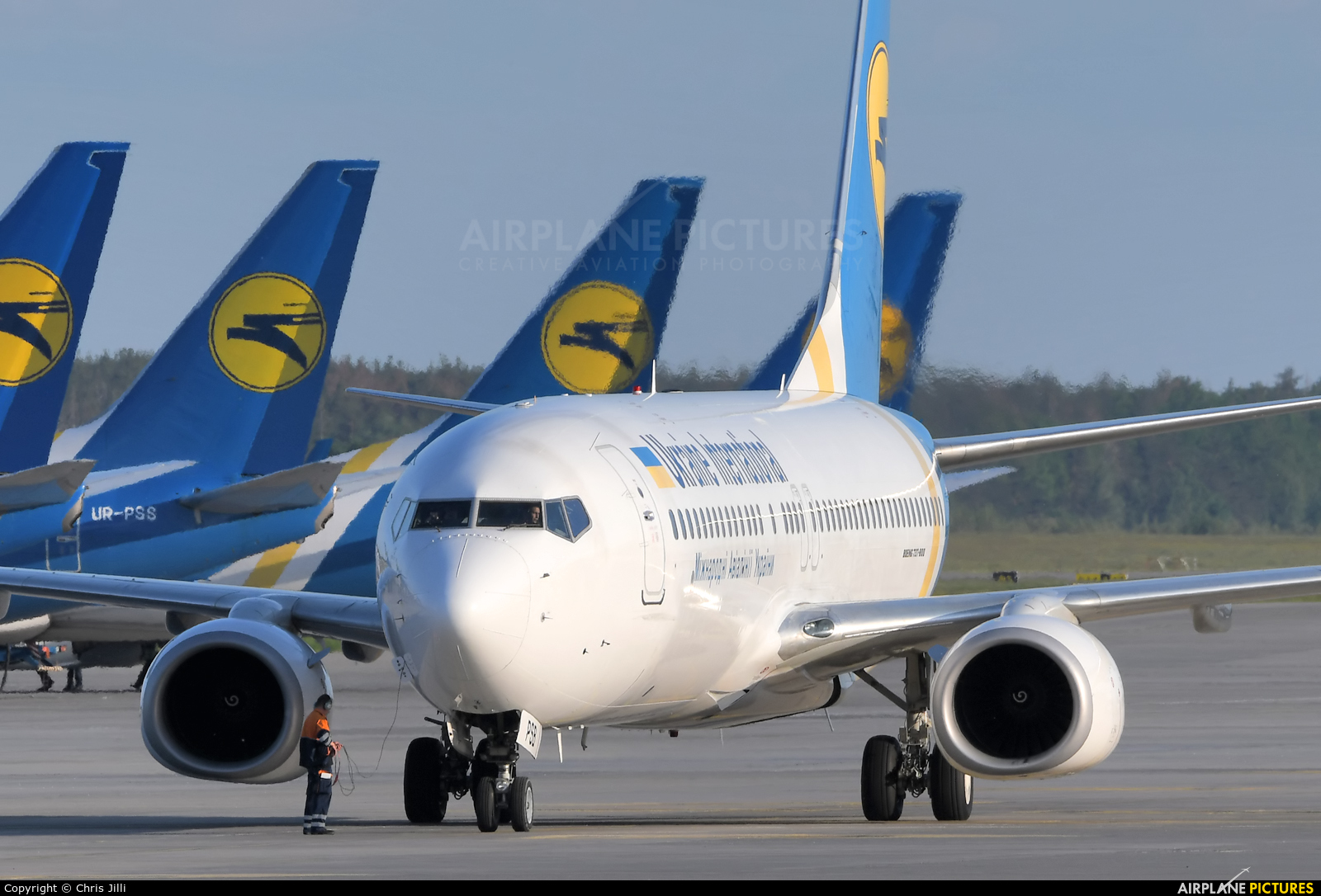 Ukraine International Airlines UR-PSB aircraft at Kiev - Borispol