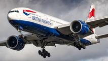 G-VIIE - British Airways Boeing 777-200 aircraft