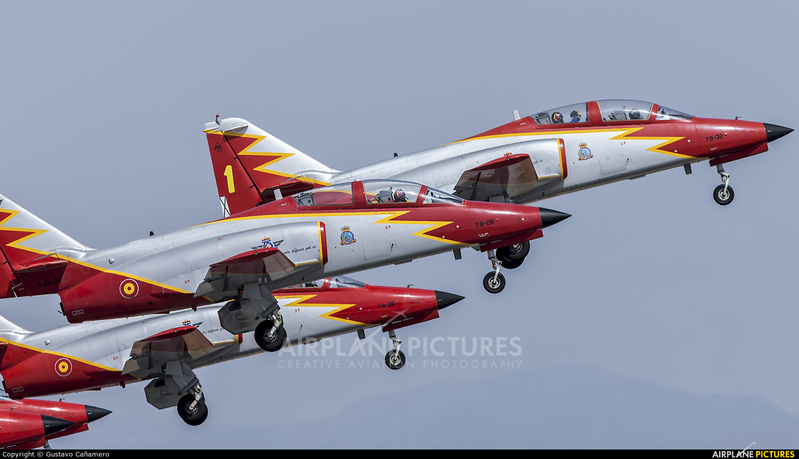 Spain - Air Force : Patrulla Aguila E.25-08 aircraft at Madrid - Torrejon