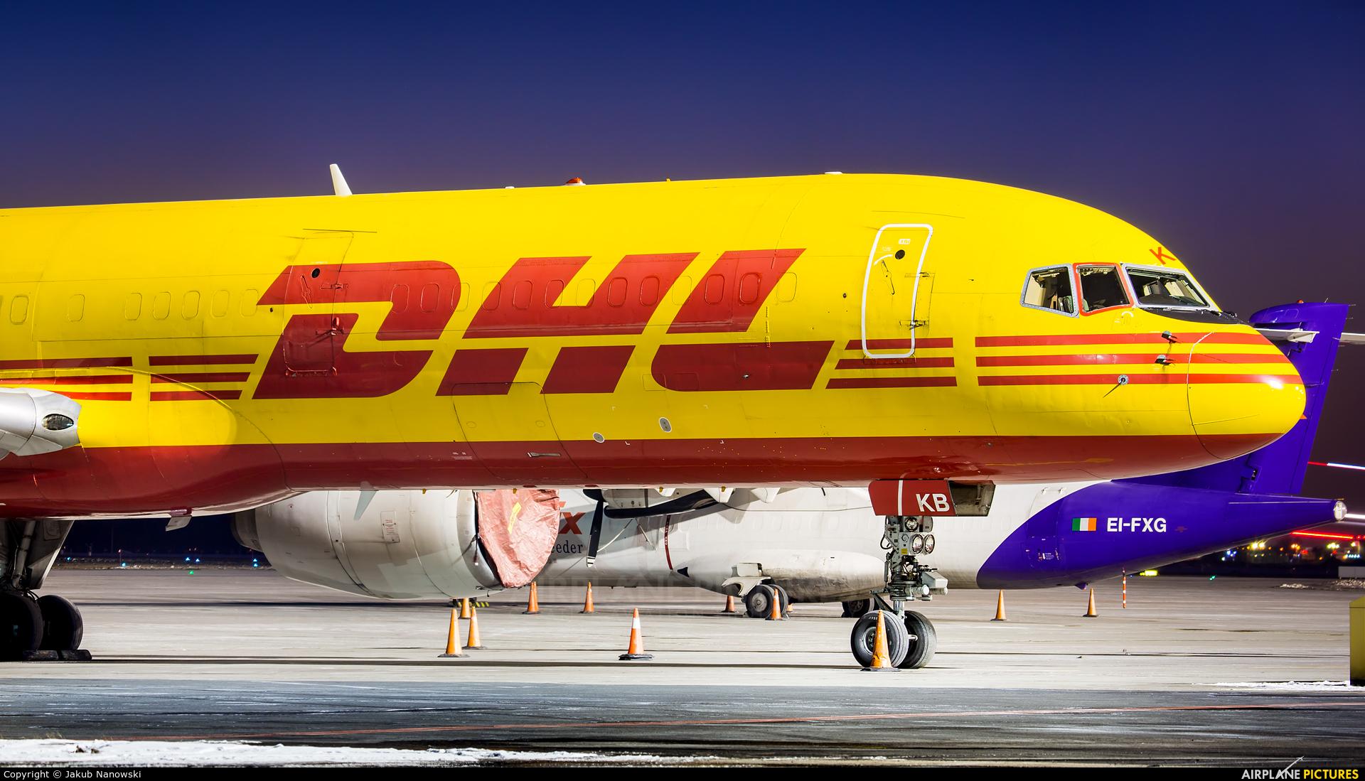 DHL Cargo G-BIKB aircraft at Warsaw - Frederic Chopin