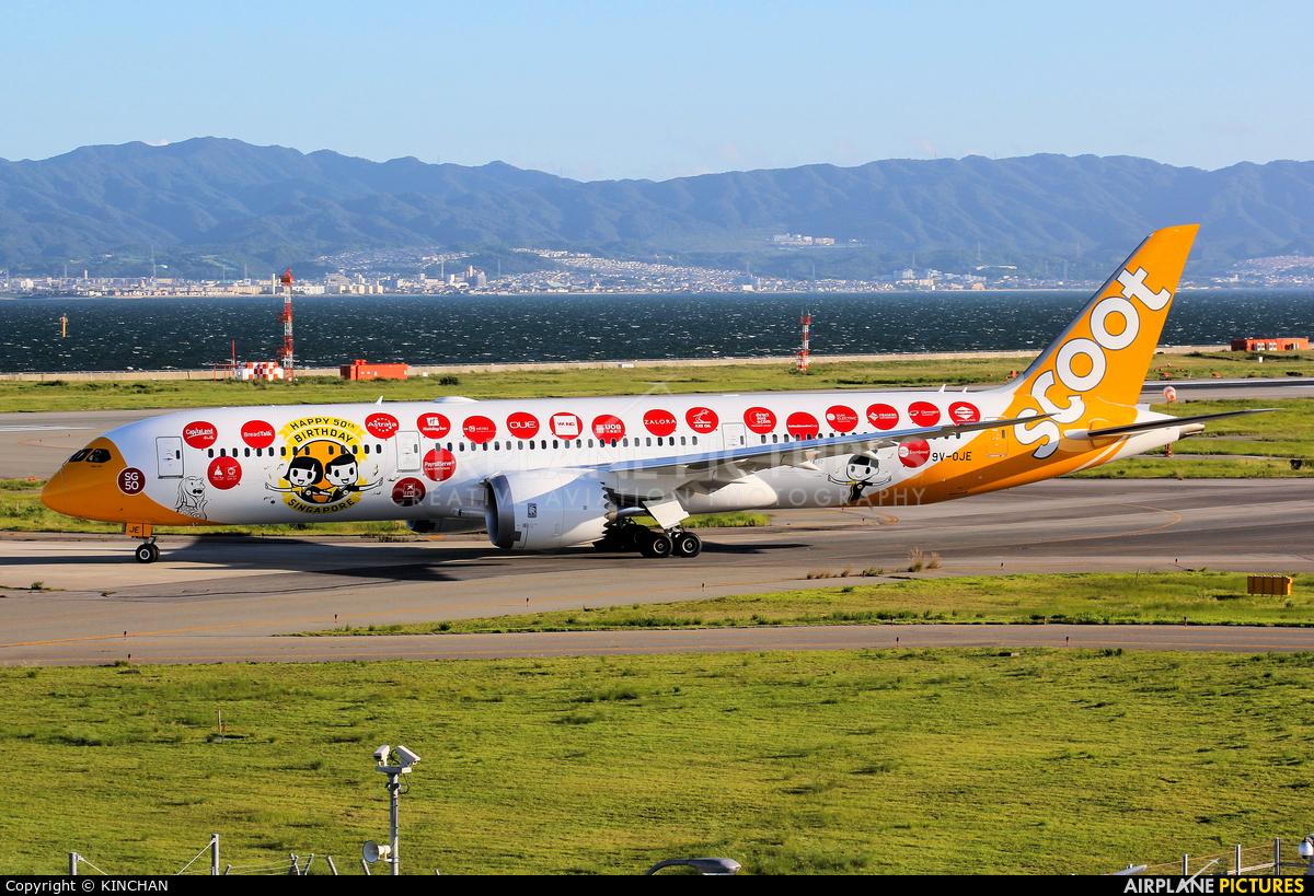 Scoot 9V-OJE aircraft at Kansai Intl