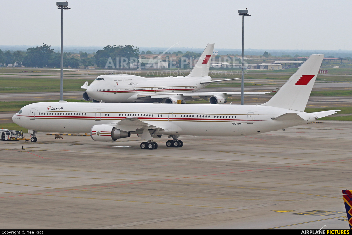Bahrain Amiri Flight A9C-HMH aircraft at Kuala Lumpur Intl