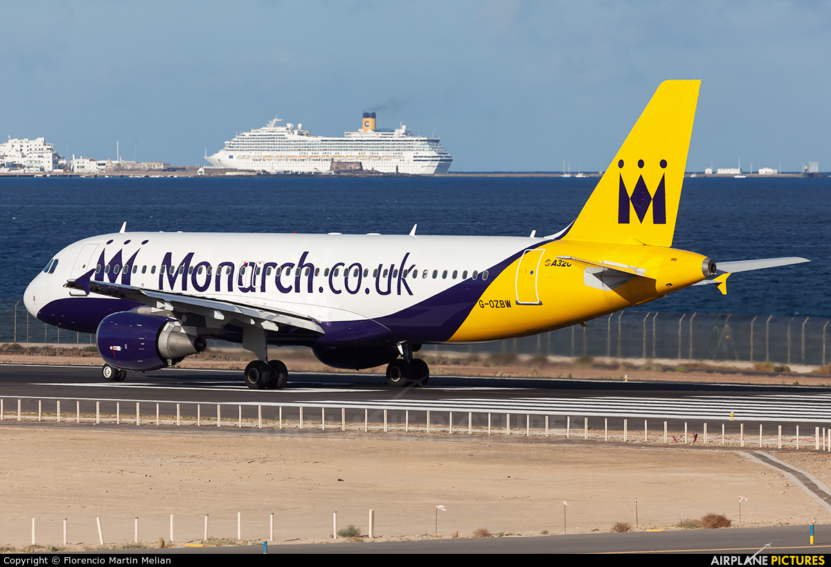 Monarch Airlines G-OZBW aircraft at Lanzarote - Arrecife