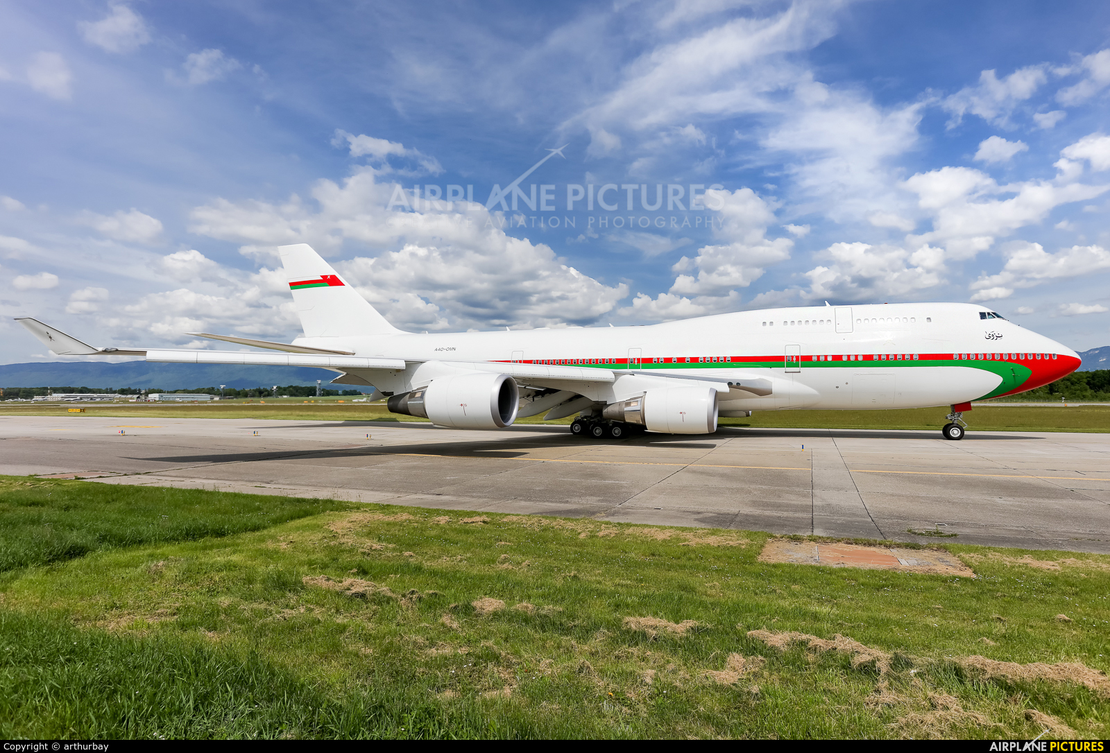 Oman - Royal Flight A4O-OMN aircraft at Geneva Intl