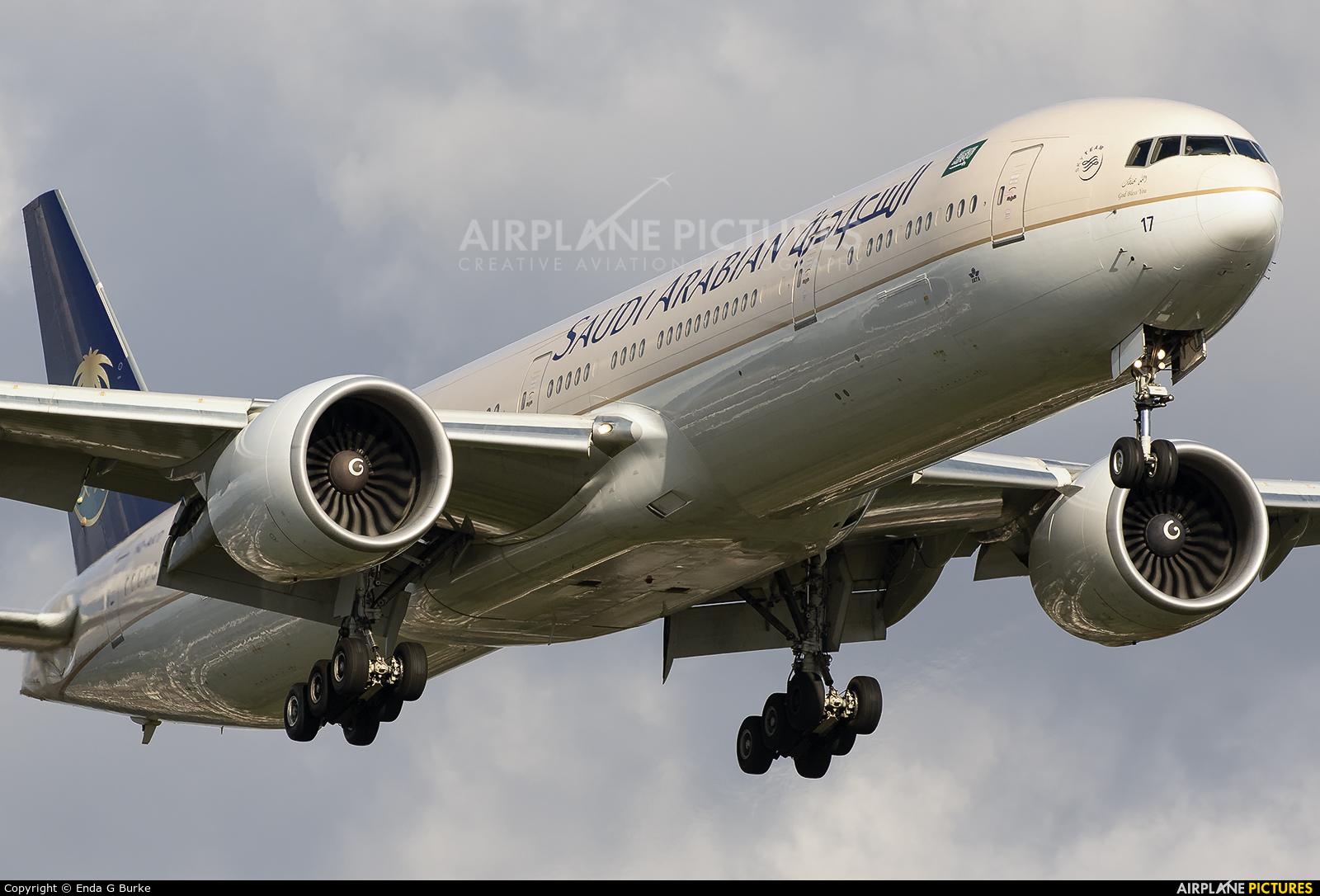 Saudi Arabian Airlines HZ-AK17 aircraft at London - Heathrow