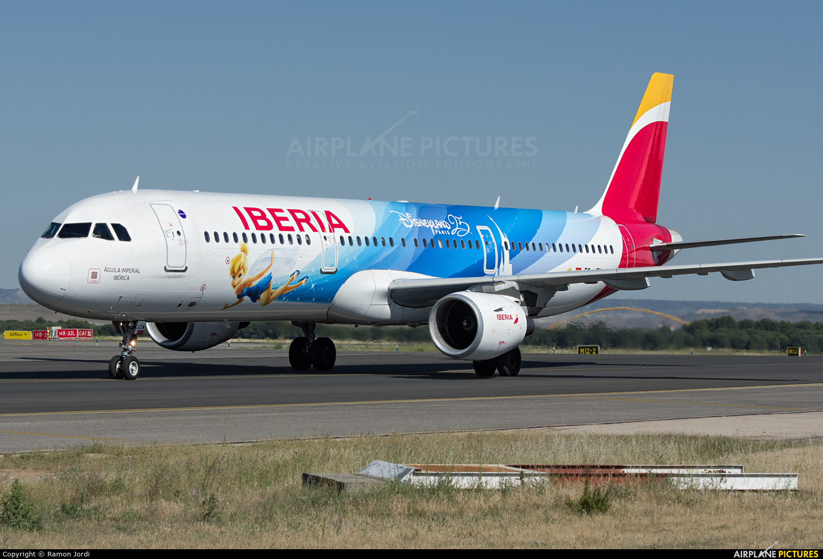 Iberia EC-JZM aircraft at Madrid - Barajas