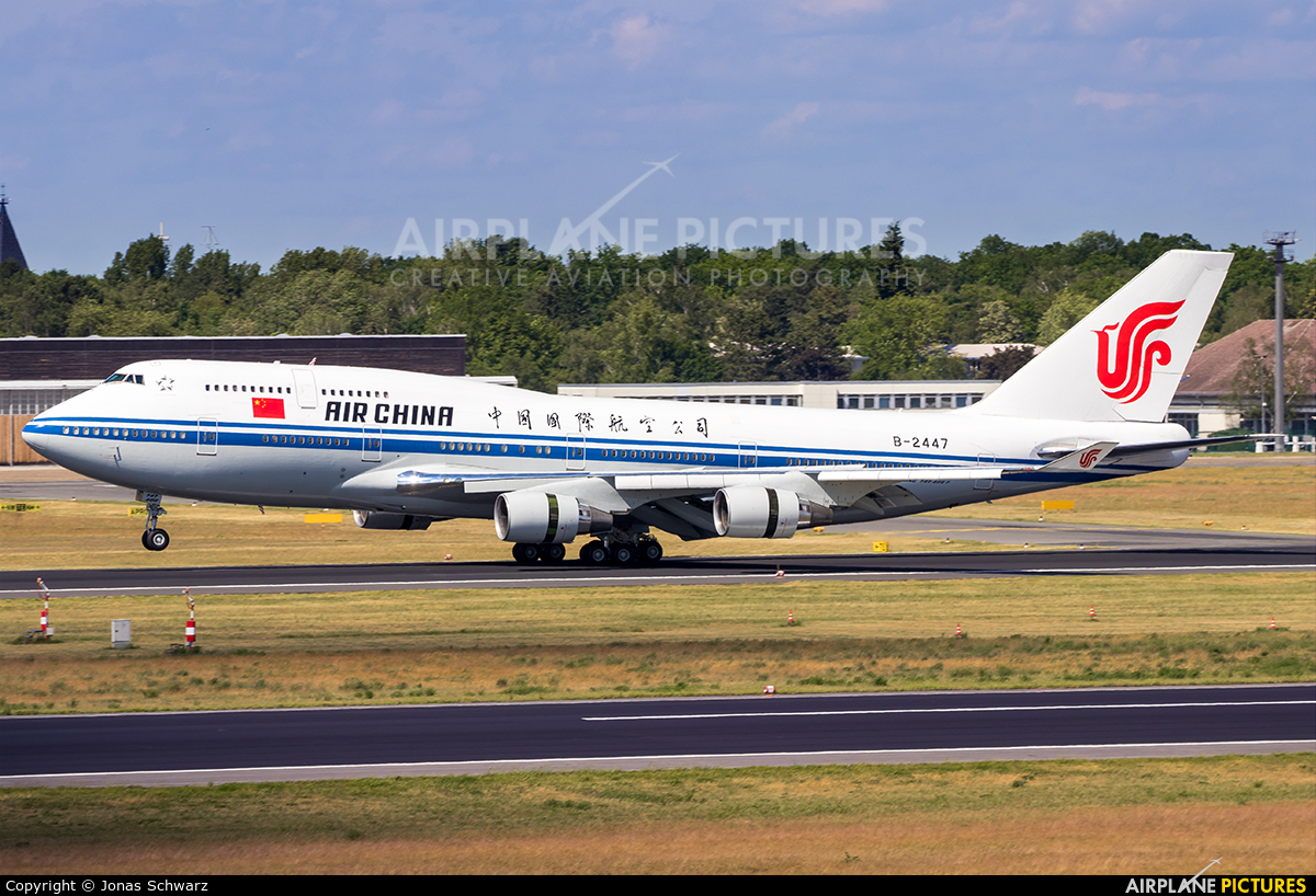 Air China B-2447 aircraft at Berlin - Tegel