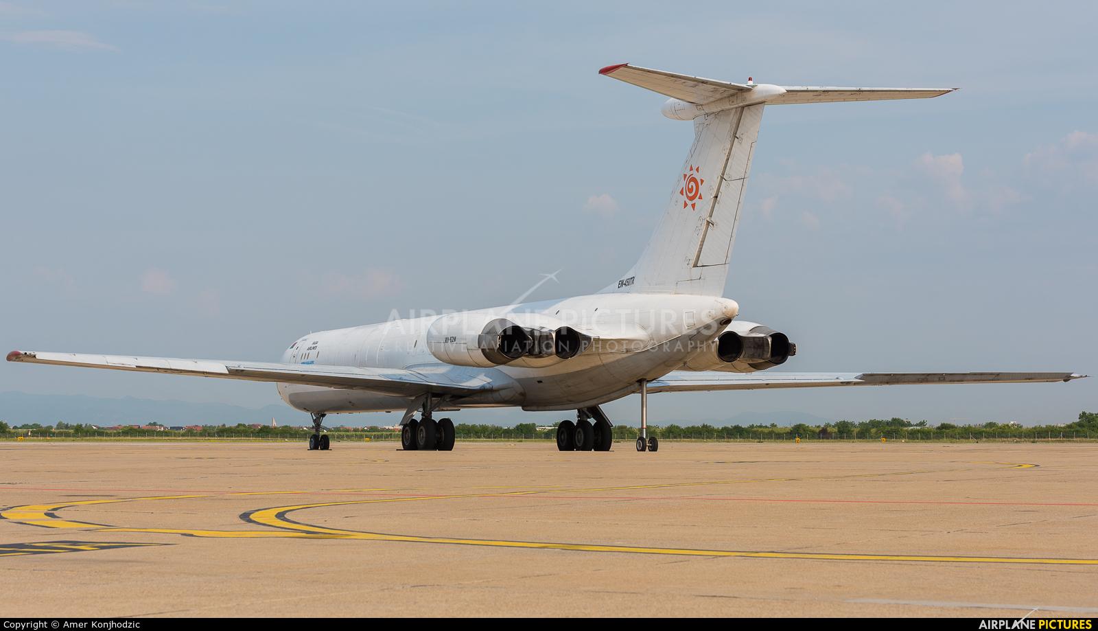 Rada Airlines EW-450TR aircraft at Zagreb