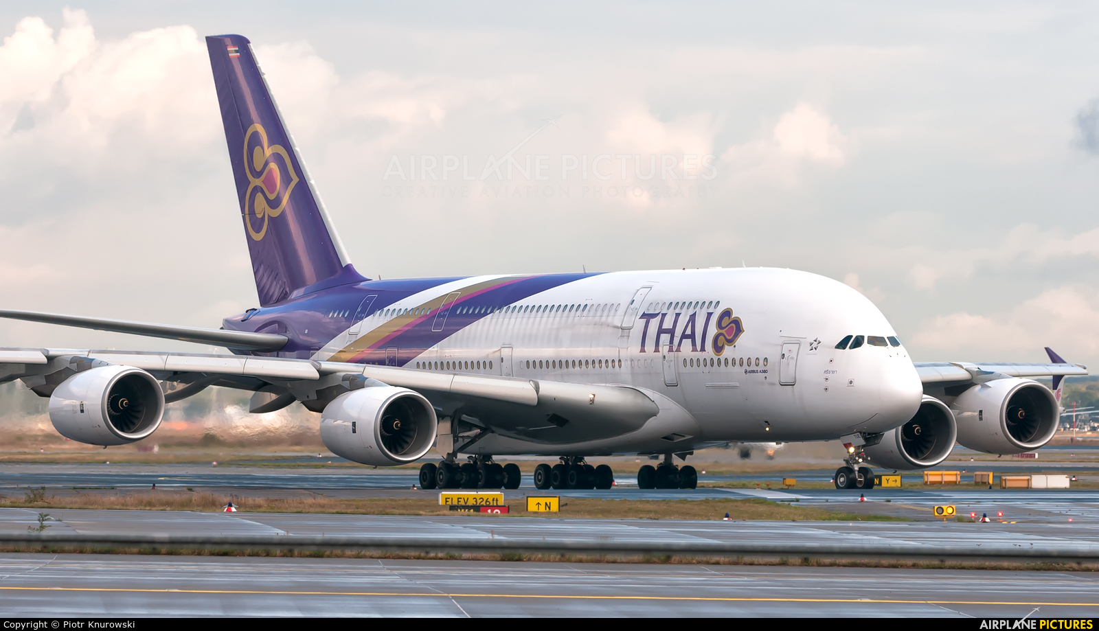 Thai Airways HS-TUE aircraft at Frankfurt