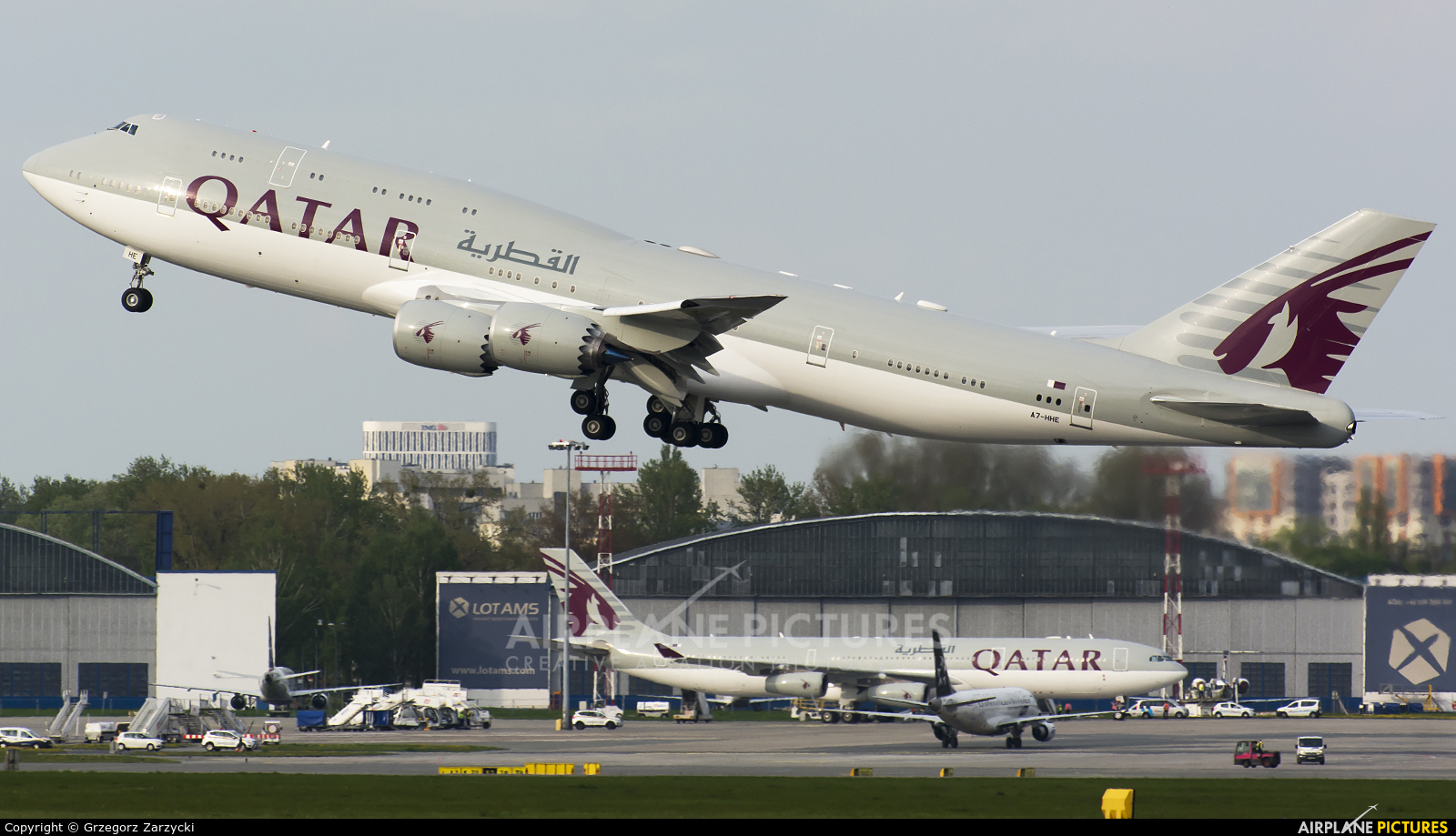 Qatar Amiri Flight A7-HHE aircraft at Warsaw - Frederic Chopin