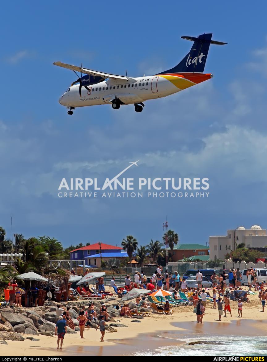 LIAT V2-LIK aircraft at Sint Maarten - Princess Juliana Intl