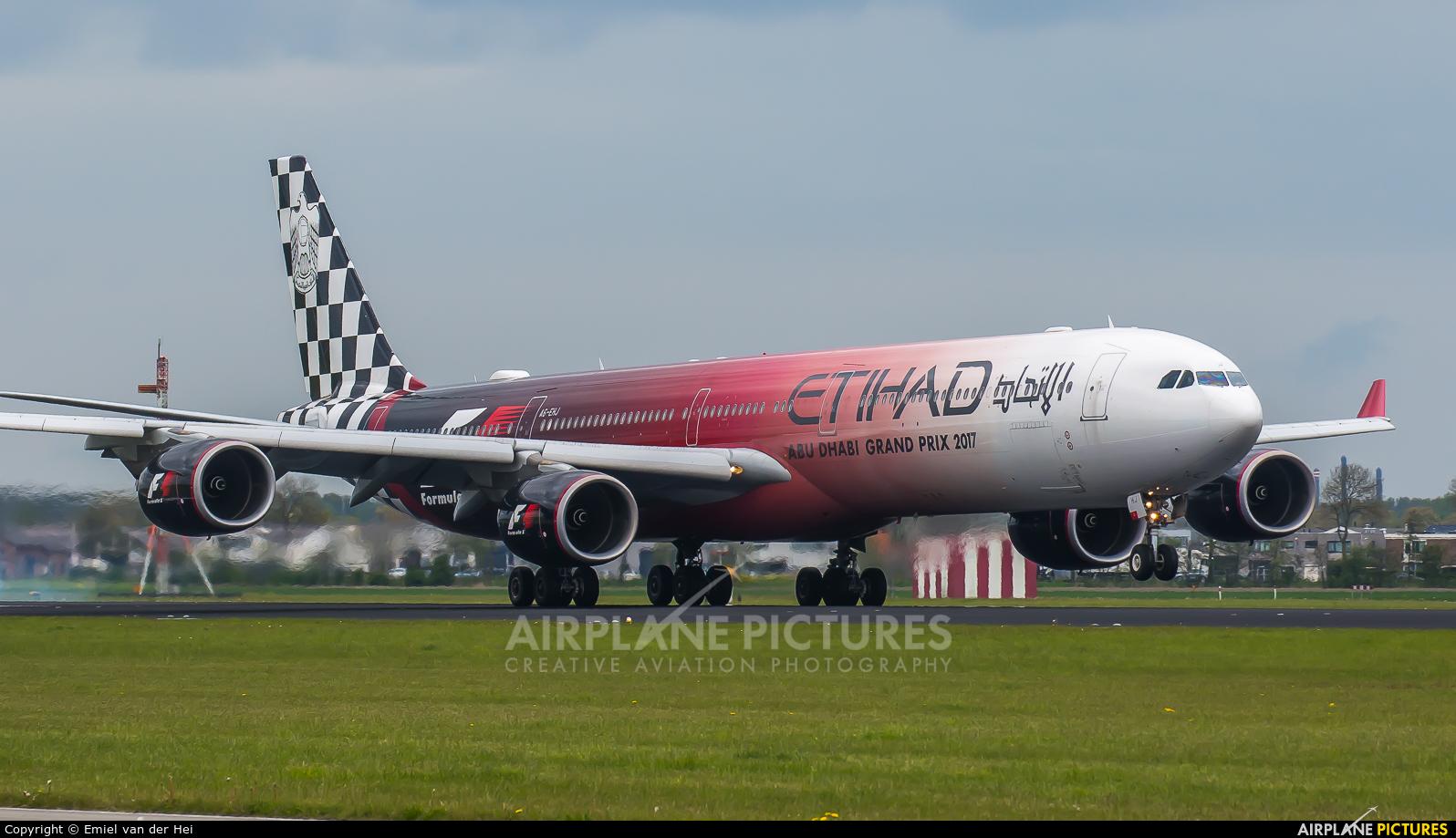 Etihad Airways A6-EHJ aircraft at Amsterdam - Schiphol