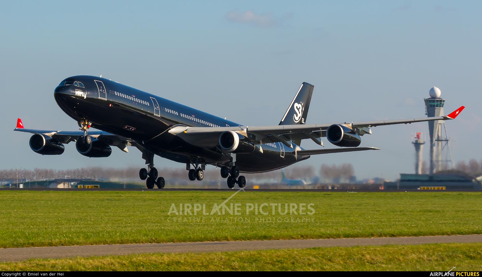 Hi Fly Malta 9H-TQM aircraft at Amsterdam - Schiphol