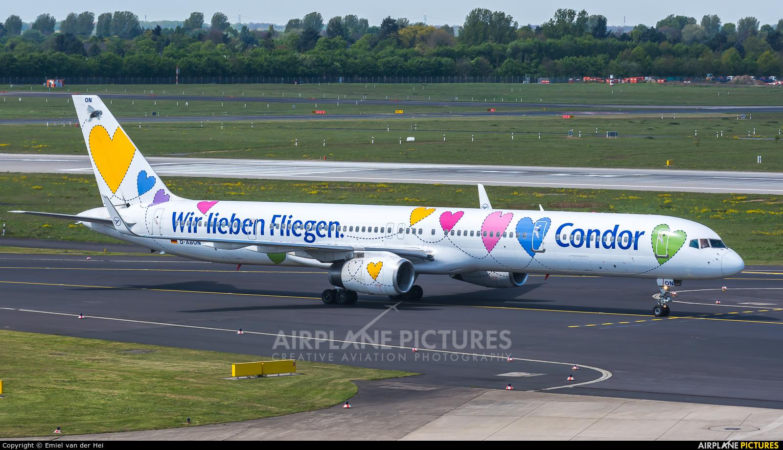 Condor D-ABON aircraft at Düsseldorf