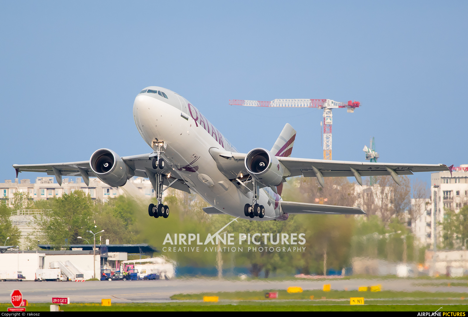 Qatar Amiri Flight A7-AFE aircraft at Warsaw - Frederic Chopin