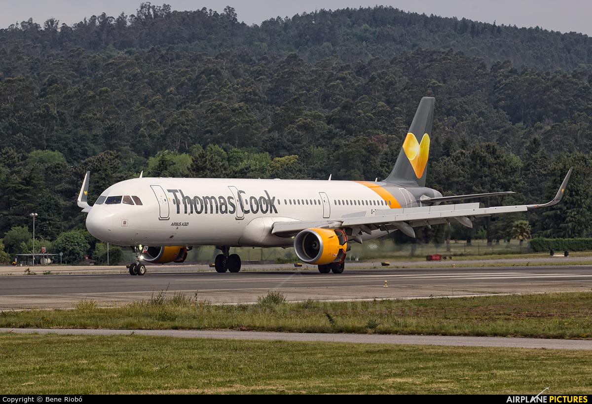 Thomas Cook G-TCDM aircraft at Vigo