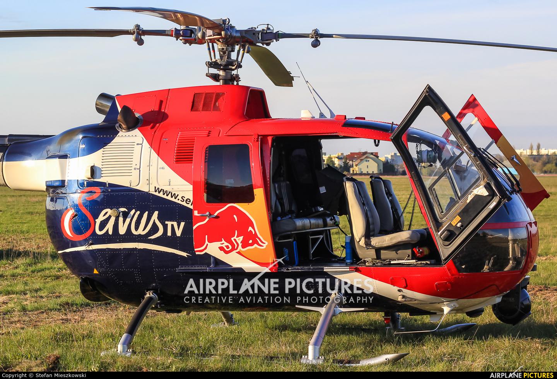 Red Bull D-HUDM aircraft at Warsaw - Babice