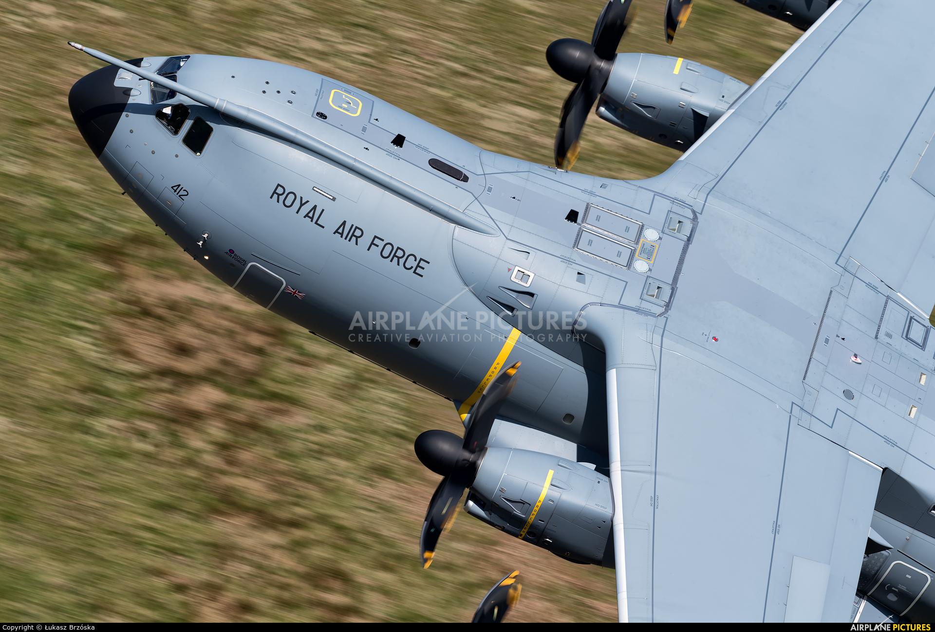 Royal Air Force ZM412 aircraft at Machynlleth Loop - LFA 7