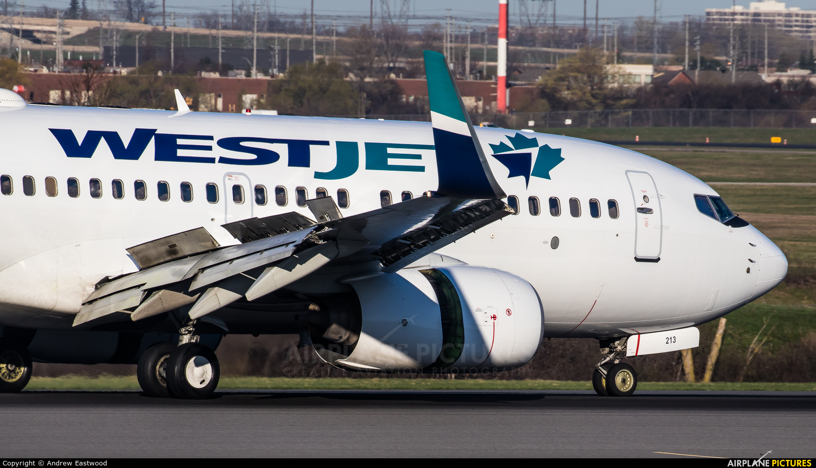 WestJet Airlines C-GWBF aircraft at Toronto - Pearson Intl, ON