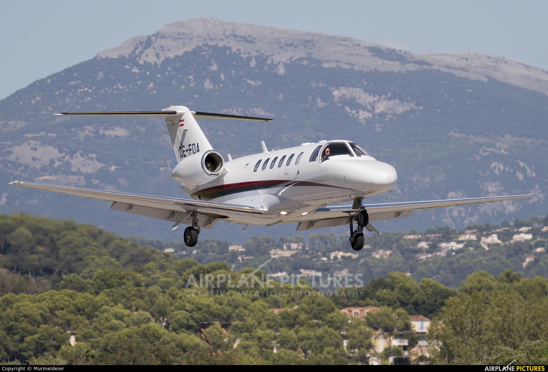 Private OE-FOA aircraft at Cannes - Mandelieu