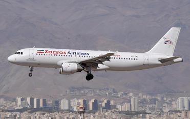 EP-ZAJ - Zagros Air Airbus A320