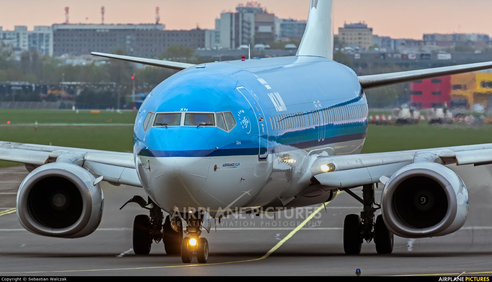 KLM PH-BXH aircraft at Warsaw - Frederic Chopin