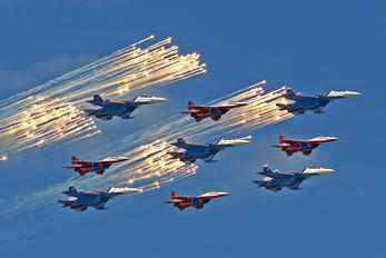 "- - Russia - Air Force ""Russian Knights"" Sukhoi Su-30SM"