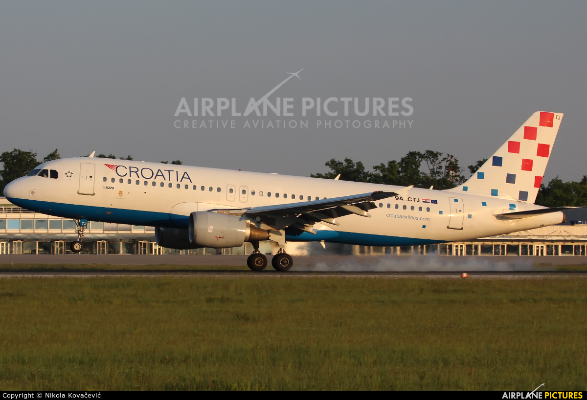 Croatia Airlines 9A-CTJ aircraft at Zagreb