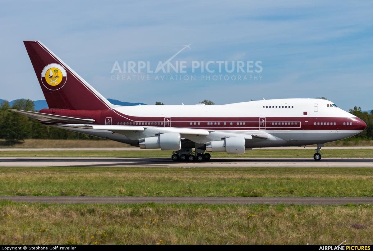 Qatar Amiri Flight VP-BAT aircraft at Basel - Mulhouse- Euro