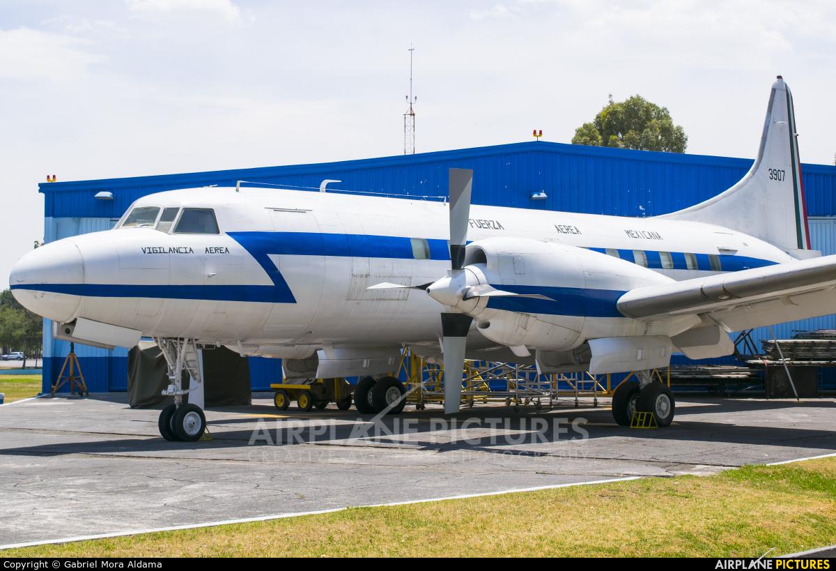 Mexico - Air Force 3907 aircraft at Santa Lucia AB