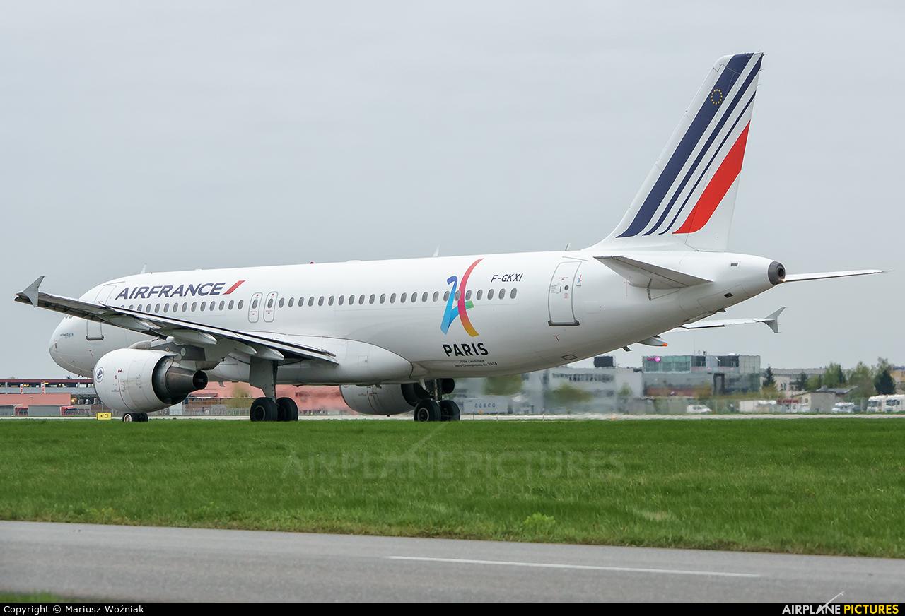 Air France F-GKXI aircraft at Warsaw - Frederic Chopin