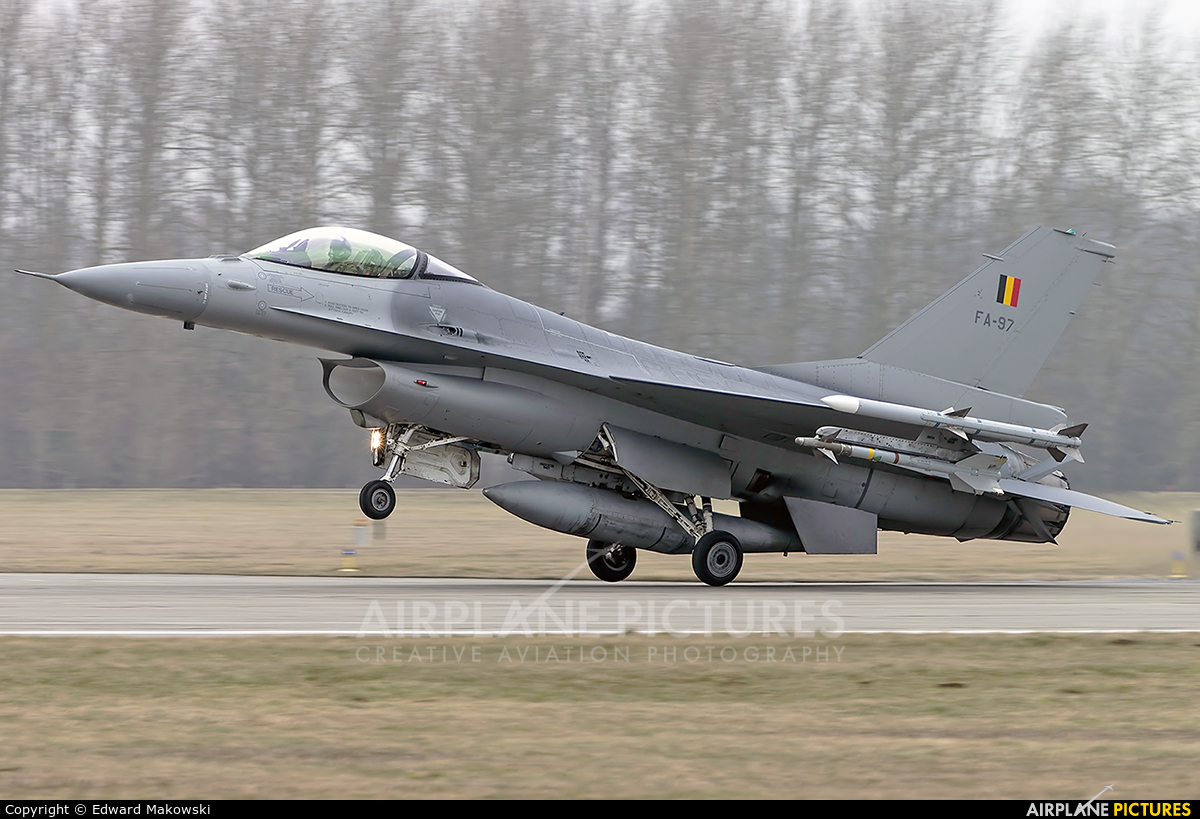 Belgium - Air Force FA-97 aircraft at Malbork