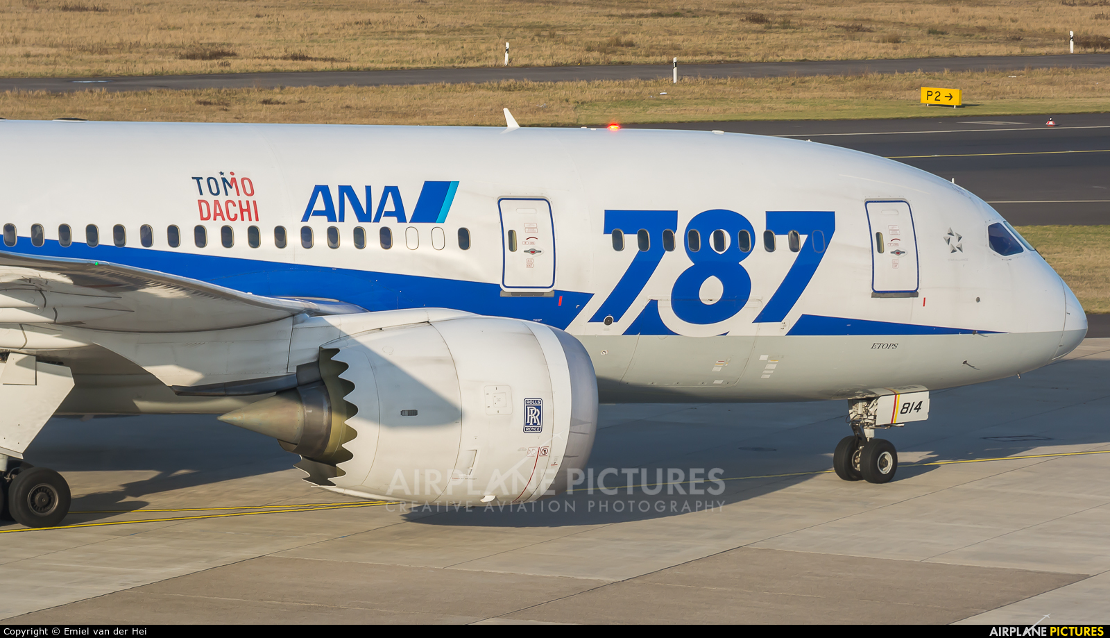 ANA - All Nippon Airways JA814A aircraft at Düsseldorf