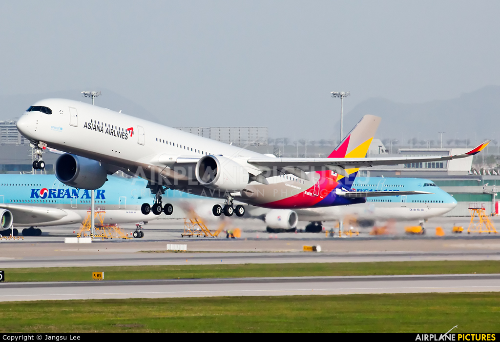 Asiana Airlines HL8078 aircraft at Seoul - Incheon