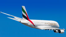A6-EDW - Emirates Airlines Airbus A380 aircraft