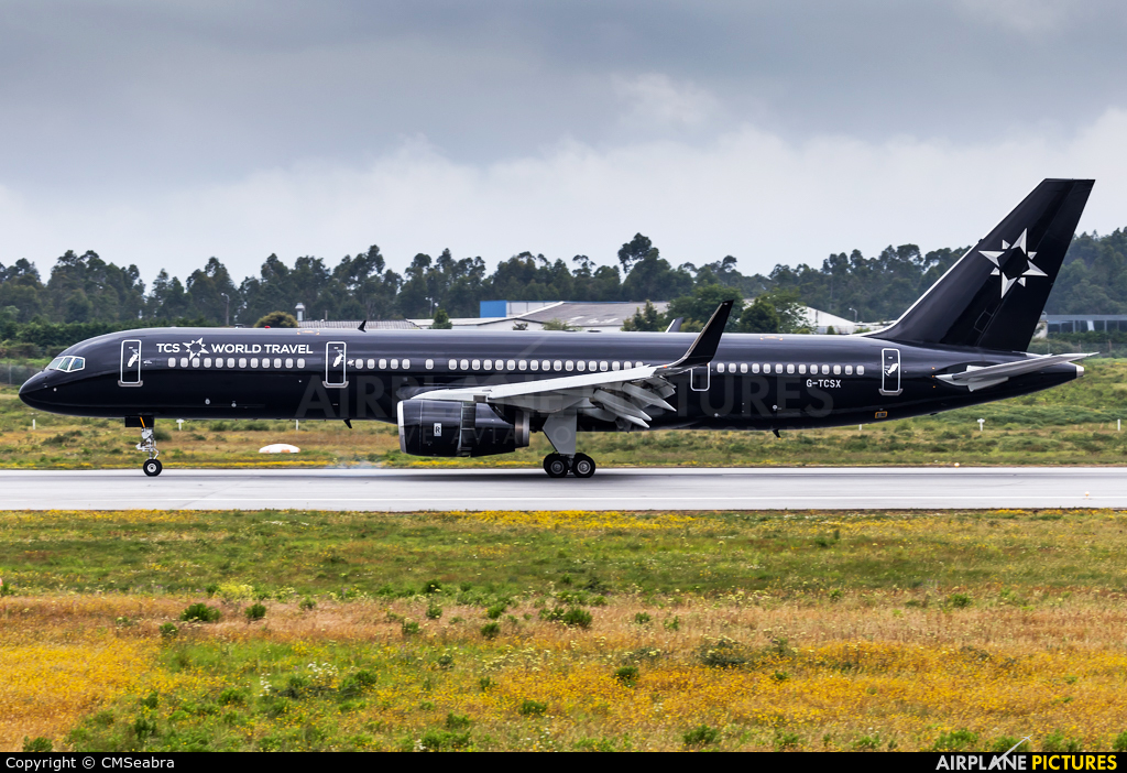 TCS World Travel G-TCSX aircraft at Porto