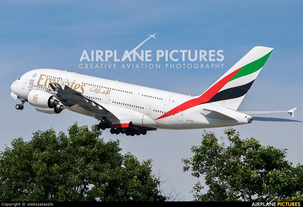 Emirates Airlines A6-EEG aircraft at Milan - Malpensa