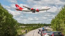 Virgin Atlantic 747 visits Stockholm title=