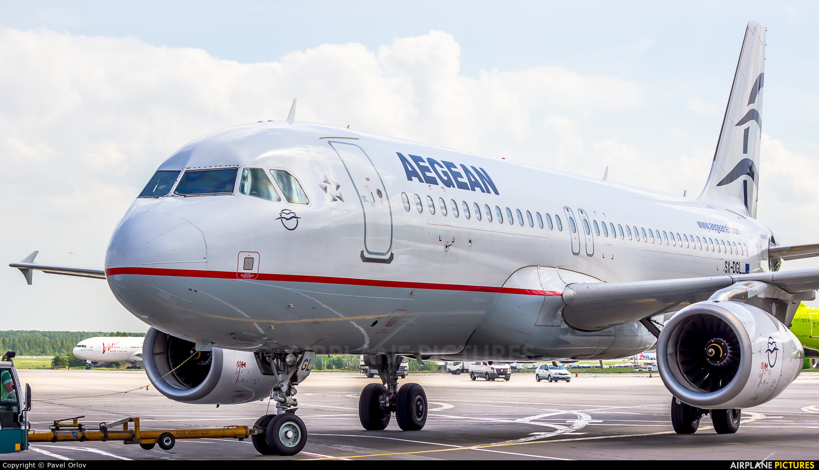 Aegean Airlines SX-DGL aircraft at Moscow - Domodedovo