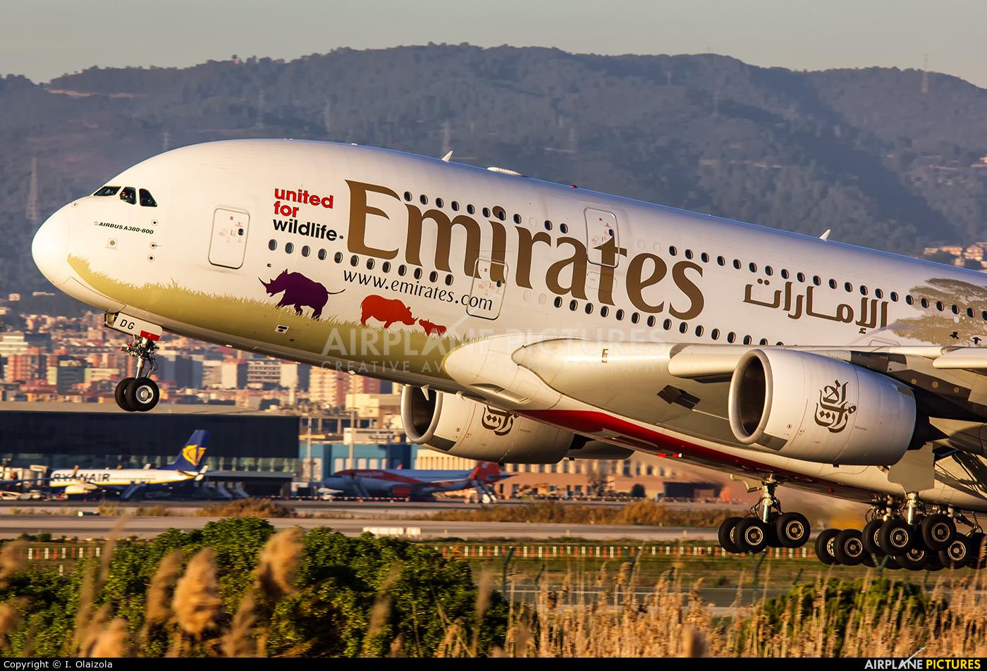 Emirates Airlines A6-EDG aircraft at Barcelona - El Prat