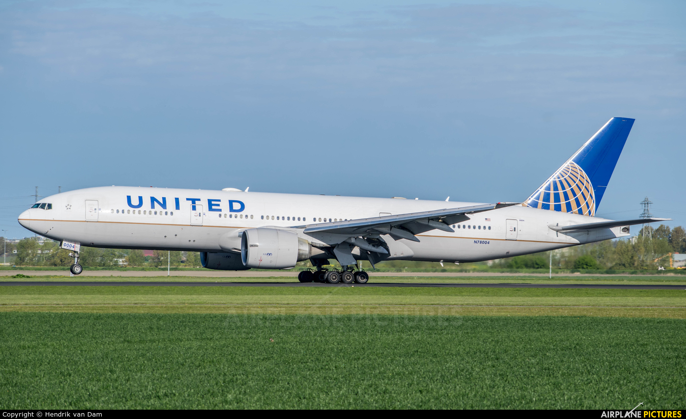 United Airlines N78004 aircraft at Amsterdam - Schiphol