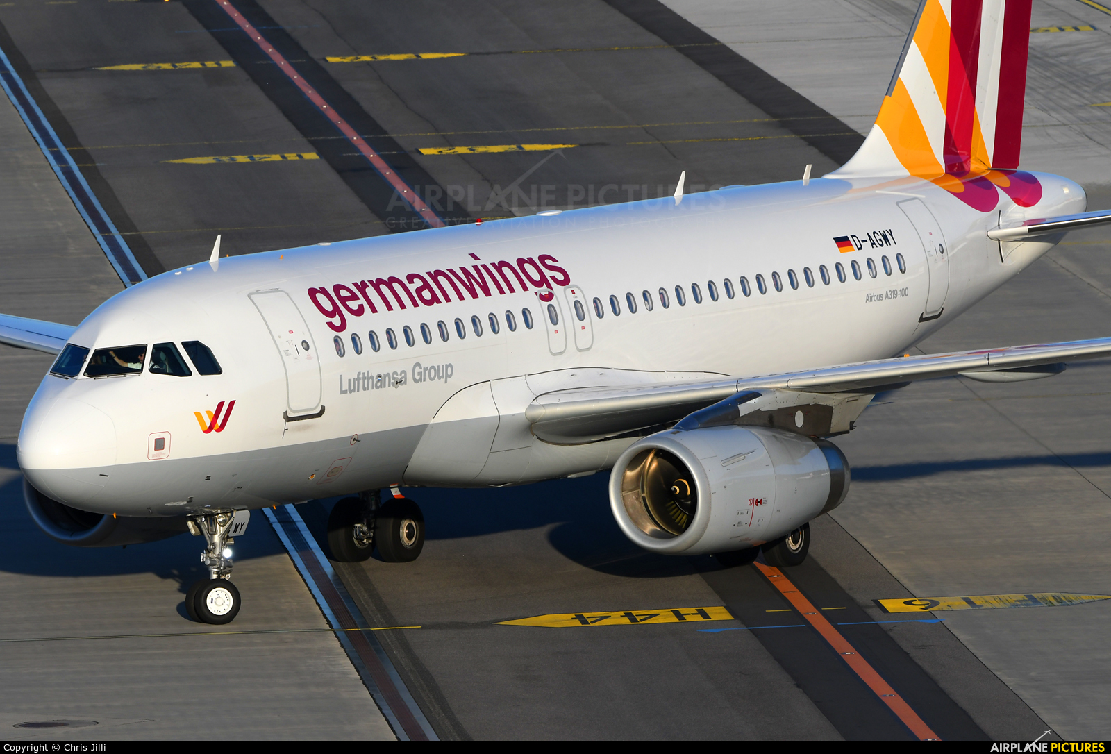 Germanwings D-AGWY aircraft at Vienna - Schwechat