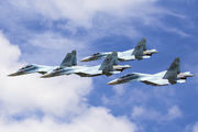 """80 - Russia - Air Force """"Falcons of Russia"""" Sukhoi Su-30 M2 aircraft"""