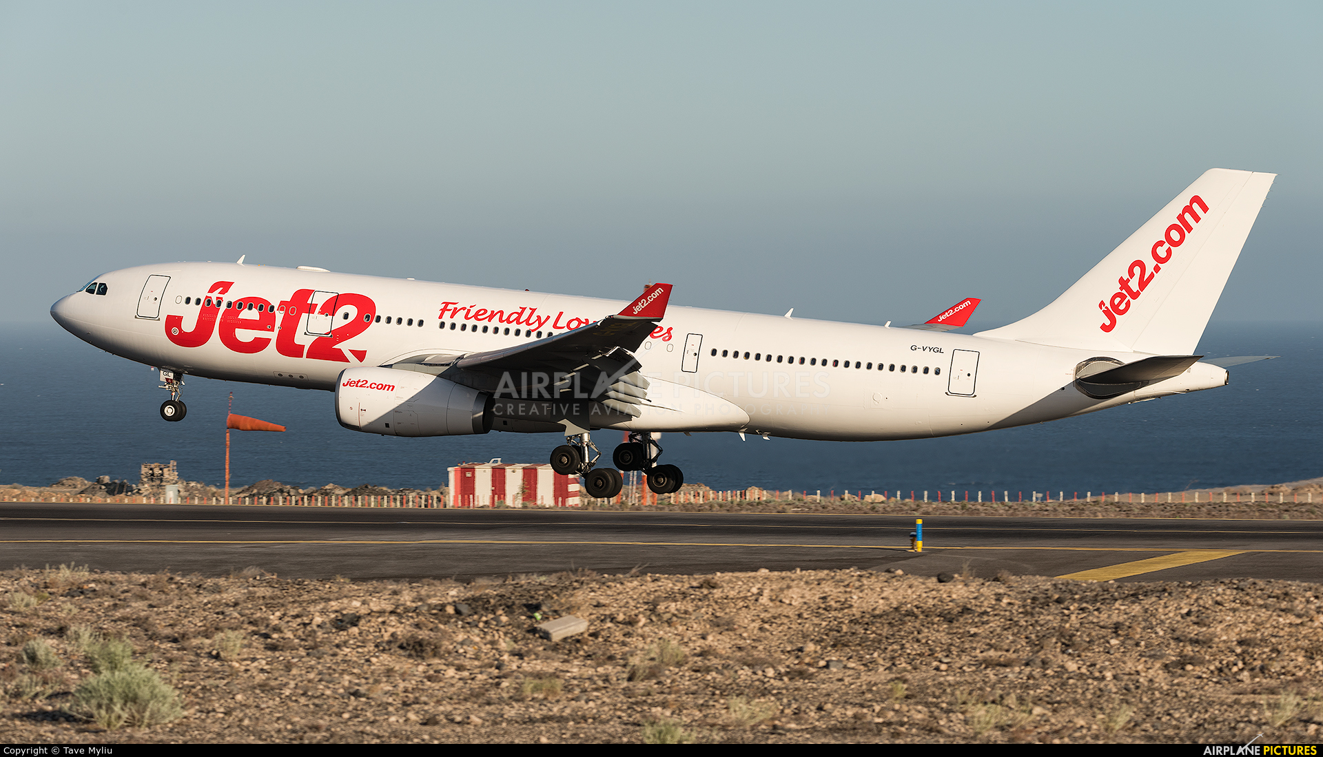 Jet2 G-VYGL aircraft at Tenerife Sur - Reina Sofia