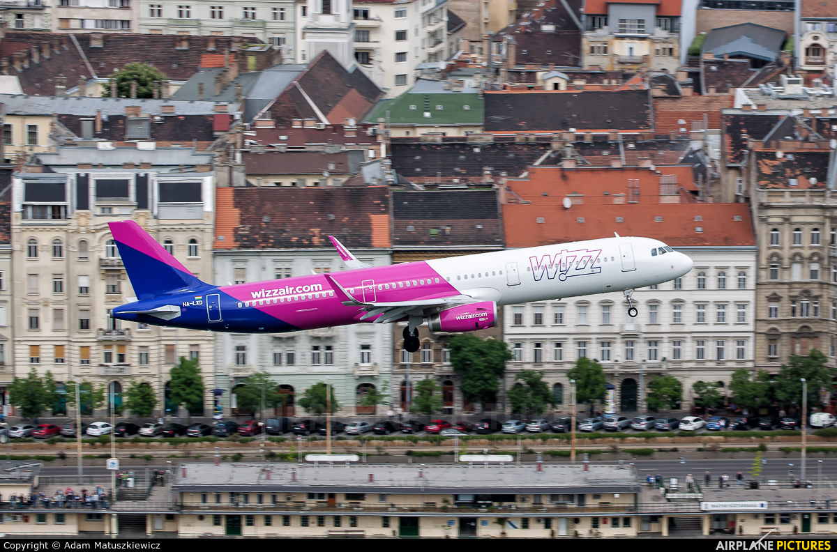 Wizz Air HA-LXD aircraft at Budapest Ferenc Liszt International Airport